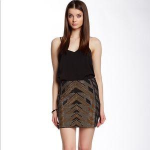 Beaded mini skirt, size small